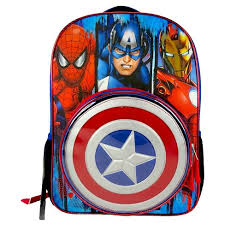 captain america shield light target captain america 16 kids backpack with removable shield target