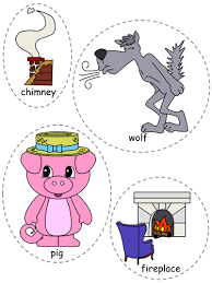 pigs felt board characters