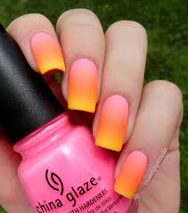 summer neon gradient nail art ombre fake nails nail art