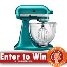 Kitchenaid Mixer Artisan by 3 Winners Win A Kitchenaid Artisan Stand Mixer Julie U0027s Freebies
