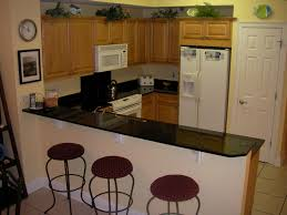small kitchen design with breakfast bar outofhome