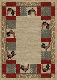 Rooster Area Rug Cade U0027s Cove Area Rug Wildlife Cabin Black Bear Pine Cone Tree 3