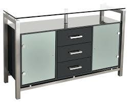 dressers dressers sideboards black gloss glass top sideboard