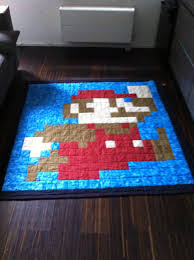 super mario brother quilt pattern free of course quilts