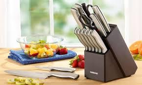 farberware kitchen knives farberware stainless steel cutlery set 15 groupon