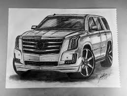 cadillac escalade realistic cadillac escalade drawing michellejakeljart draw to