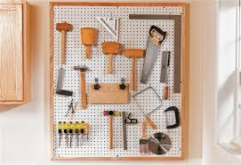 hanging a pegboard in your garage