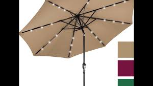 best choice products 10 u0027 deluxe solar led lighted patio umbrella
