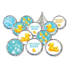 rubber ducky bubble bath stickers and foil wrappers for hershey s rubber ducky bubble bath baby shower stickers set of 324