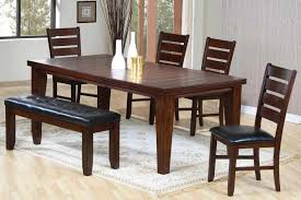Restaurant Banquettes U0026 Wall Benches Dark Brown Solid Wood Furniture Of Dining Table And Chairs With