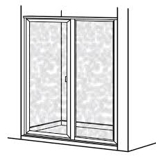prestige framed hinged shower door with in line panel american