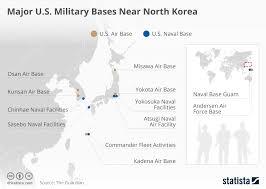 map us and korea mapping major us bases near korea zero hedge