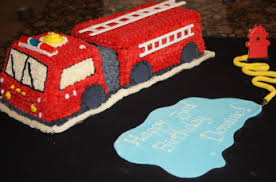 firetruck cake engine birthday cake and cookies peanut butter and julie