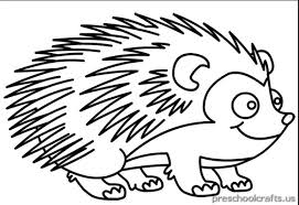 printable hedgehog coloring pages kids preschool crafts
