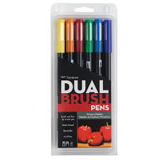 tombow dual brush pen set professional marker desk set with stand