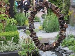 Recycled Garden Art Ideas - 42 best garden bed along the woods images on pinterest