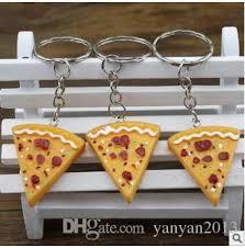 keychain favors best wedding keychains wedding gift pizza keychain pendant