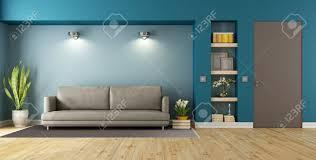 Wohnzimmer T Blau Und Braun Modernes Wohnzimmer Mit Sofa Nische Und