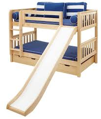 maxtrix medium bunk bed w ang ladder and slide twintwin bunk bed