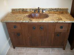 Distressed Wood Bathroom Vanity Custom Handcrafted Bathroom Cabinets And Furniture