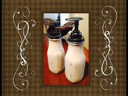 diy shabby chic soap dispenser and toothbrush holder by kelly
