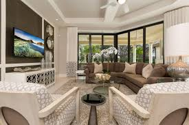 french inspired living room cipriani model home at quail west