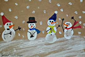 diy fingerprint snowman winter craft for crafty morning