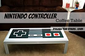 Nerdy Home Decor by Dyi Nintendo Controller Coffee Table With Stencil Templates Fun