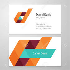 modern letter d business card template vector design layered