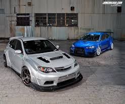 subaru evo modified modified magazine varis widebody feature evo u0026 sti
