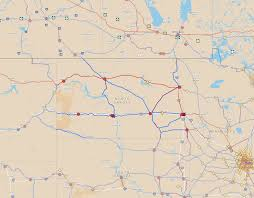 Map Of Minnesota Cities Potential Paths For Passenger Rail In North Dakota Streets Mn
