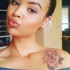 top 40 rose tattoo on shoulder for girls