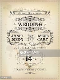 vintage wedding invites vintage wedding invitation vector getty images