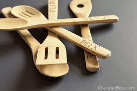 diy wood burned spoons tutorial cherished bliss