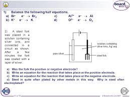 boardworks gcse additional science chemistry electrochemistry