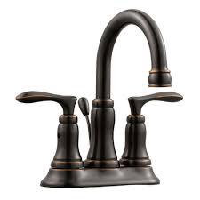 moen dartmoor 4 in centerset 2 handle bathroom faucet in oil