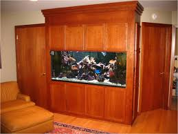furniture interesting fish tank room divider with wooden flooring