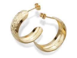 9ct gold hoop earrings 9ct gold half hoop earrings 8mm g2594 f hinds jewellers