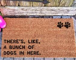 Funny Doormat Sayings Dog Doormat Etsy
