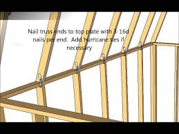how to make shed roof trusses best roof 2017