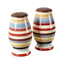 sedona ceramic salt and pepper shaker set by tabletops lifestyles