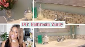 glam home diy bathroom vanity remodel youtube
