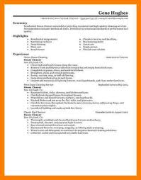 9 house cleaning resume sample informal letters