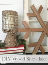 fun winter decor create your own diy wood snowflake all of the