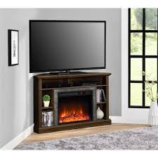 altra flame overland electric fireplace corner tv stand for tvs up