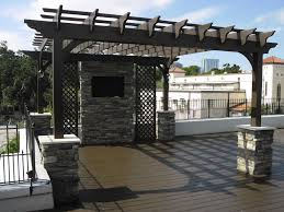 Roofing For Pergola by Exterior Glamorous Outdoor Living Space Design Ideas With White