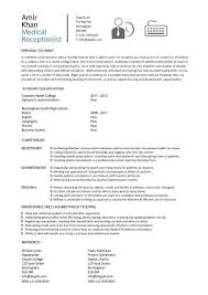 Job Description Resume Samples by Attractive Ideas Resume For Medical Receptionist 2 Medical Cv