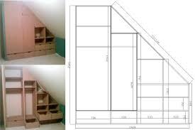 comment faire un placard dans une chambre comment faire un placard sous pente awesome meuble sous combles sur