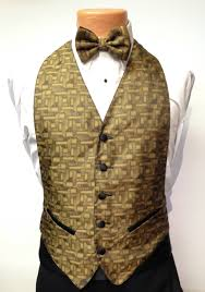 mardi gras vests gold geo vest and bow tie rental s tuxedo