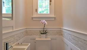 wainscoting bathroom ideas pictures artistic master bathroom design decisions tile vs wood wainscoting